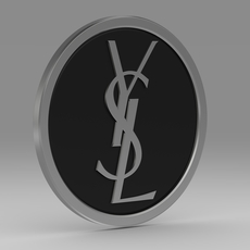 Yves Saint Laurent logo model 3D Model