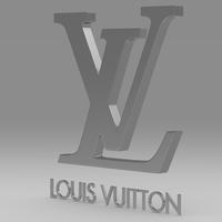 Louis Vuitton logo 3D Model