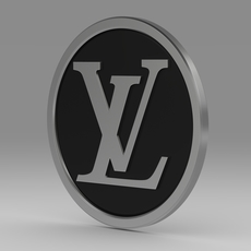 Louis Vuitton logo model 3D Model
