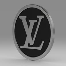 Louis Vuitton logo model 3D Model