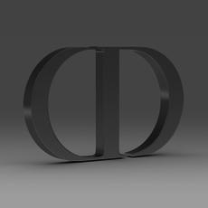 Dior logo 3D Model
