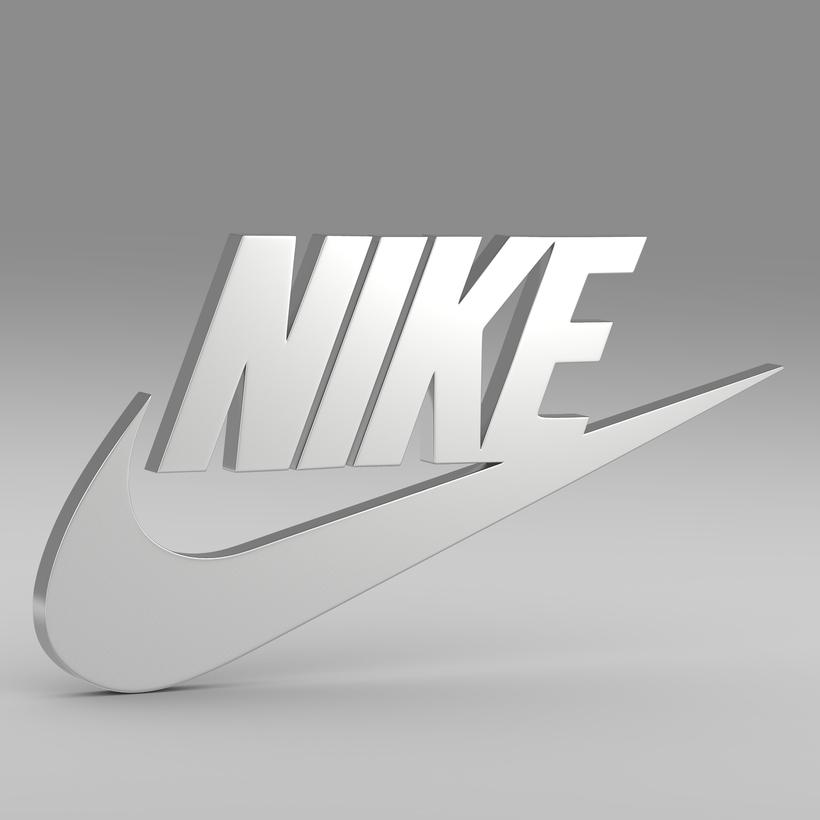 Rectángulo Juventud En lo que respecta a las personas  Nike logo 3D Model
