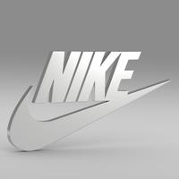 Nike logo 3D Model