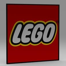 Lego logo 3D Model