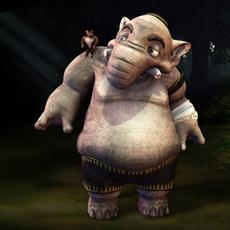 Elephant fantasy characters 3D Model
