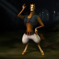 Horse fantasy characters 3D Model