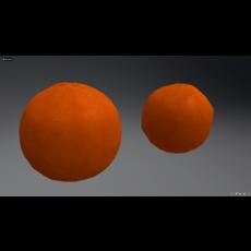Orange. 3D Model