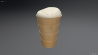 Ice Cream. Low poly model. 3D Model