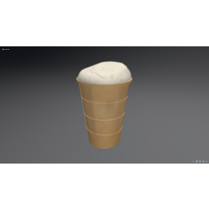 Ice Cream. Low poly model. 3D Model