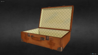 Leather suitcase. Low poly model. 3D Model