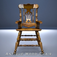 Wood Chair free 3D Model