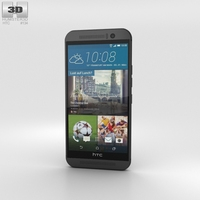 HTC One (M9) Gunmetal Gray Phone 3D Model
