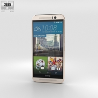 HTC One (M9) Silver/Rose Gold Phone 3D Model