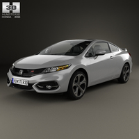 Honda Civic coupe Si 2014 3D Model