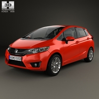 Honda Fit US-spec 2014 3D Model