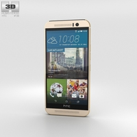 HTC One (M9) Amber Gold Phone 3D Model