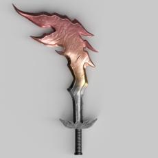 Fire Sword 3D Model