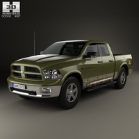Dodge RAM 1500 Mossy Oak Edition 2014 3D Model