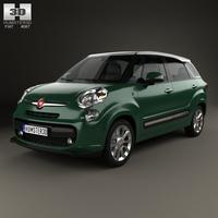 Fiat 500L (330) Living 2013 3D Model