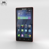 Lenovo P90 Lava Red Phone 3D Model