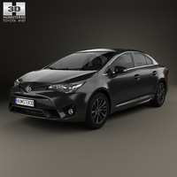 Toyota Avensis (T270) sedan 2016 3D Model