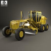 Generic Motor Grader 3D Model