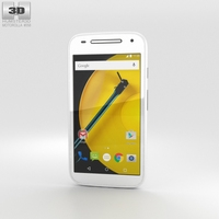 Motorola Moto E (2nd Gen.) White Phone 3D Model