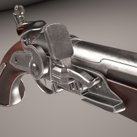 Flintlock pistol 3D Model