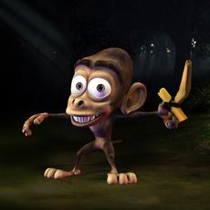 Monkey fantasy character 3D Model