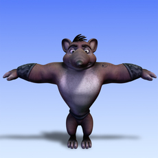 mouse fantasy character 3D Model