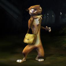Weasel fantasy character 3D Model