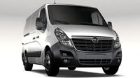 Opel Movano L1H1 Van 2016 3D Model