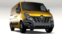 Renault Master L1H1 Van 2017 3D Model