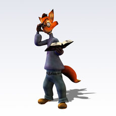 Fox fantasy characters 3D Model