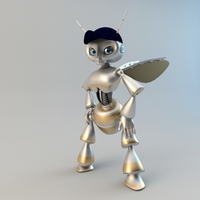 Bee Robot fantasy characters 3D Model