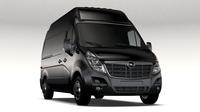 Opel Movano L2H3 Van 2016 3D Model