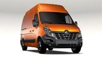 Renault Master L2H3 Van 2017 3D Model