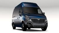 Vauxhall Movano L2H3 Van 2016 3D Model