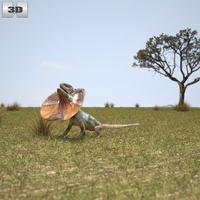 Frill-Necked Lizard 3D Model