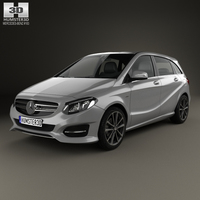 Mercedes-Benz B-Class (W246) Urban Line 2014 3D Model