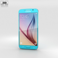 Samsung Galaxy S6 Blue Topaz 3D Model