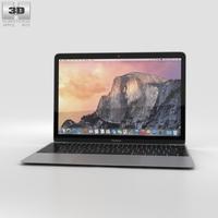Apple MacBook Space Gray 3D Model