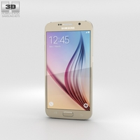 Samsung Galaxy S6 Gold Platinum 3D Model