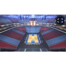 Basketball Arena V2 3D Model