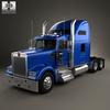 Kenworth W900L Tractor Truck 2005 3D Model