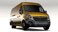 Opel Movano L4H2 Van 2016 3D Model