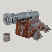 Vessel cannon Unicorn 3D Model