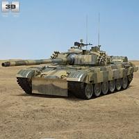 PT-91 Twardy Tank 3D Model