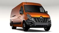 Renault Master L4H2 Van 2017 3D Model