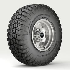 Off Road wheel and tire 3 3D Model